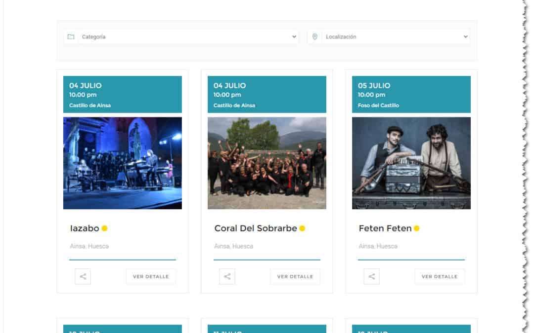 Publicados los eventos, horarios y ubicaciones del Festival Castillo de Ainsa