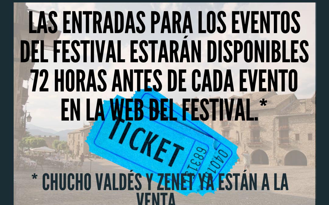Entradas a eventos del Festival Castillo de Ainsa 2021